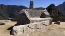 Zonnewijzer in Machu Picchu