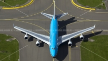 KLM Boeing 747 taxing at Schiphol
