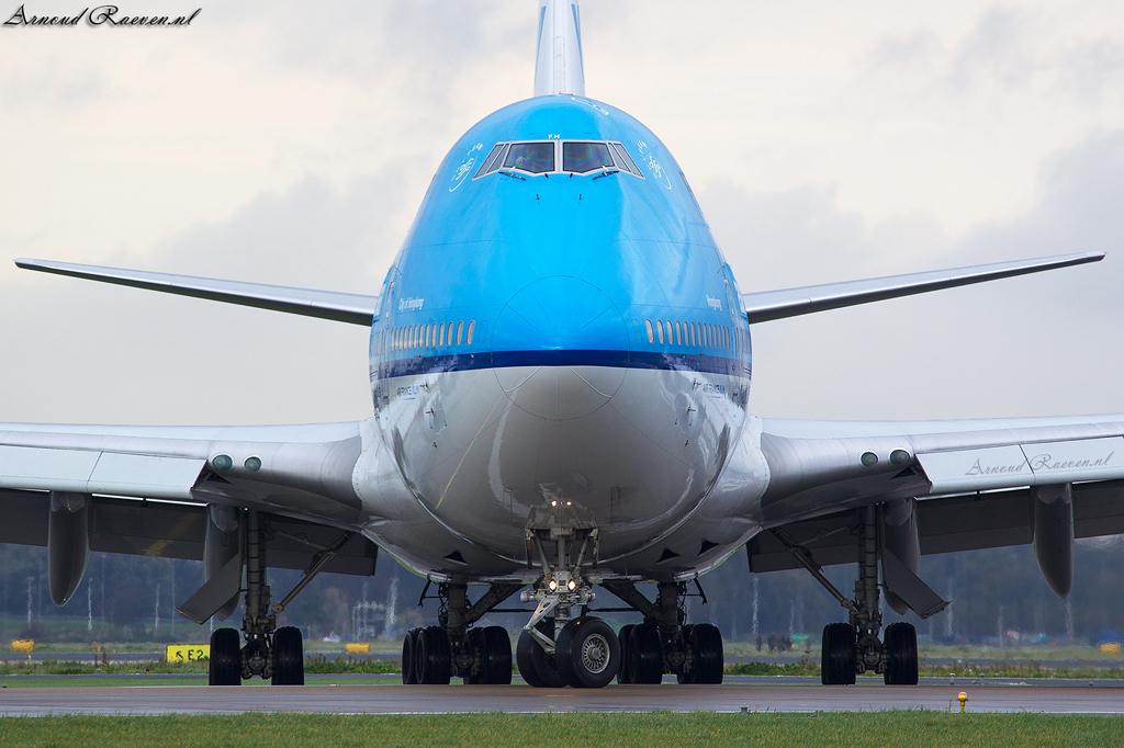 KLM 747 op Schiphol