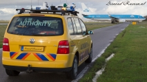Airside Authority Auto met KLM 737