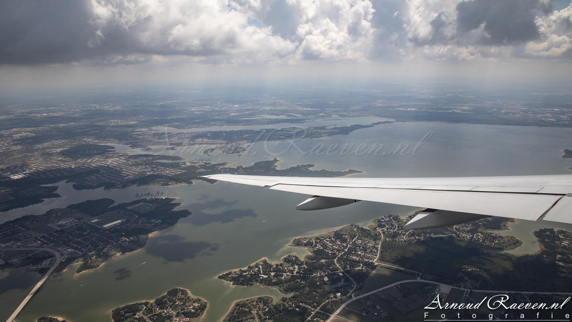 Uitzicht op de omgeving van Dallas