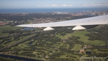 Wing view over Holland