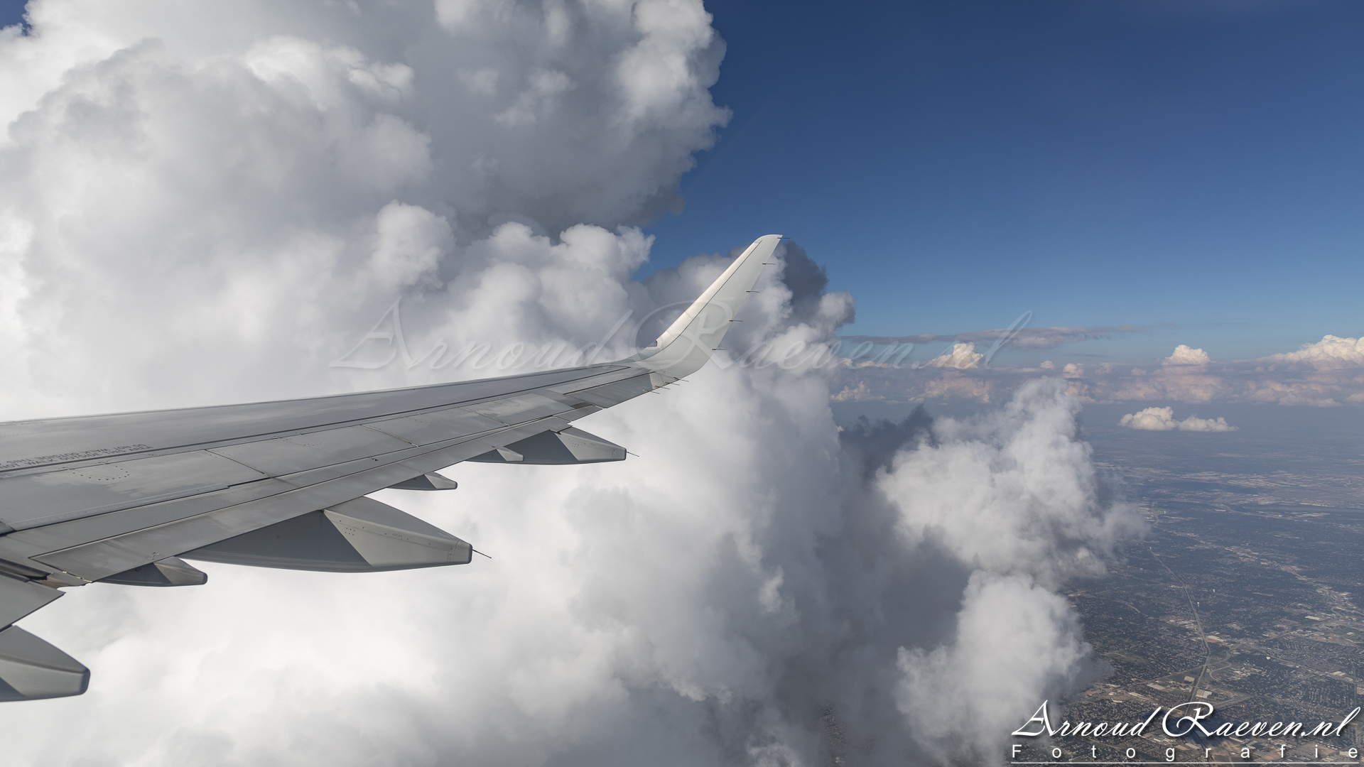 Mooie wolken bij vertrek