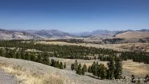 Uitzicht over Yellowstone nabij Mount Wasburn